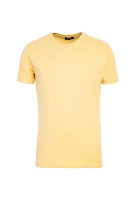 Erkek Giyim - AÇIK SARI L Beden Bisiklet Yaka Slim Fit Tişört