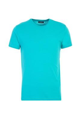 Erkek Giyim - MİNT YEŞİLİ XL Beden Bisiklet Yaka Slim Fit Tişört