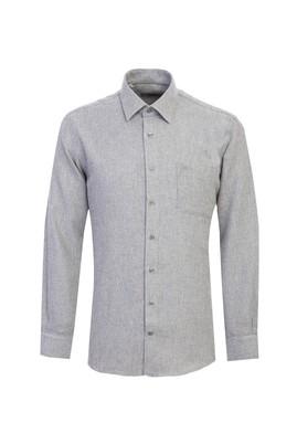 Erkek Giyim - AÇIK BEJ 3X Beden Uzun Kol Desenli Flanel Gömlek