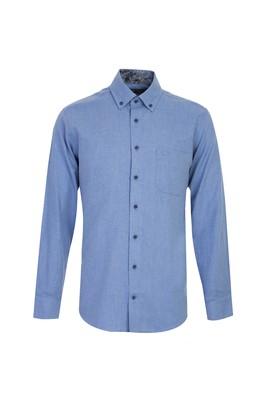 Erkek Giyim - MAVİ 3X Beden Uzun Kol Klasik Gömlek