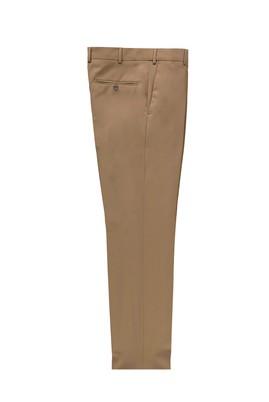 Erkek Giyim - AÇIK KAHVE LOT1 50 Beden Slim Fit Klasik Yünlü Pantolon