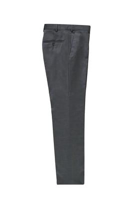 Erkek Giyim - ORTA GRİ 46 Beden Slim Fit Yünlü Klasik Kumaş Pantolon