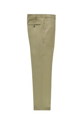 Erkek Giyim - KÜF YEŞİLİ 46 Beden Slim Fit Yünlü Klasik Pantolon