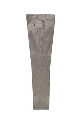Erkek Giyim - AÇIK GRİ 46 Beden Keten Klasik Pantolon