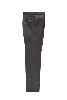 Erkek Giyim - AÇIK KAHVE 48 Beden Slim Fit Yünlü Tokalı Pileli Klasik Pantolon
