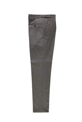 Erkek Giyim - ORTA KAHVE 48 Beden Yünlü Tokalı Klasik Pantolon