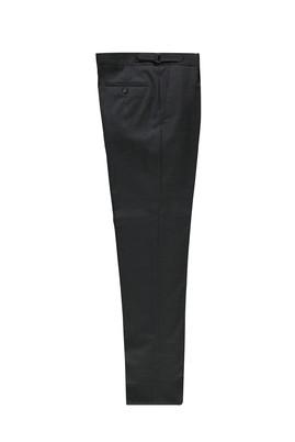 Erkek Giyim - AÇIK ANTRASİT 48 Beden Yünlü Tokalı Klasik Pantolon