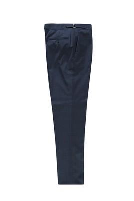 Erkek Giyim - KOYU MAVİ 48 Beden Yünlü Tokalı Klasik Pantolon