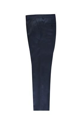 Erkek Giyim - KOYU LACİVERT 52 Beden Kuşgözü Klasik Pantolon