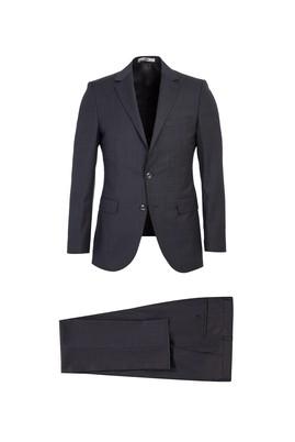 Erkek Giyim - MARENGO 54 Beden Slim Fit Desenli Yünlü Takım Elbise