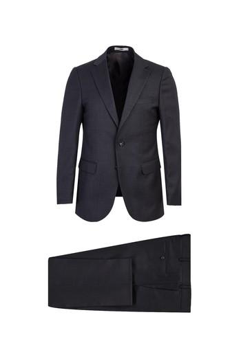 Erkek Giyim - Klasik Yünlü Kuşgözü Takım Elbise