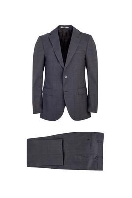 Erkek Giyim - ORTA GRİ 52 Beden Klasik Yünlü Takım Elbise