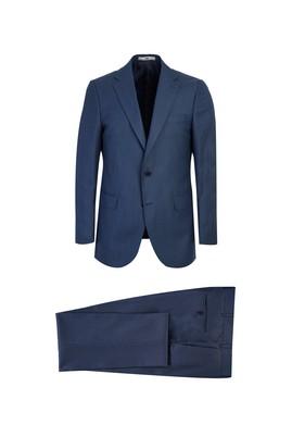 Erkek Giyim - AÇIK LACİVERT 52 Beden Klasik Yünlü Takım Elbise