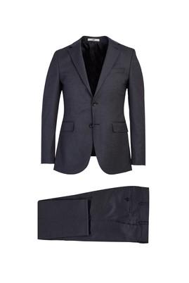 Erkek Giyim - AÇIK SİYAH 48 Beden Klasik Kuşgözü Takım Elbise