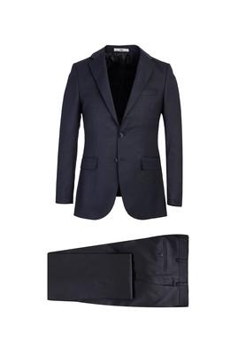 Erkek Giyim - KOYU LACİVERT 48 Beden Klasik Kuşgözü Takım Elbise