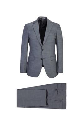 Erkek Giyim - ORTA GRİ 50 Beden Slim Fit Kuşgözü Takım Elbise