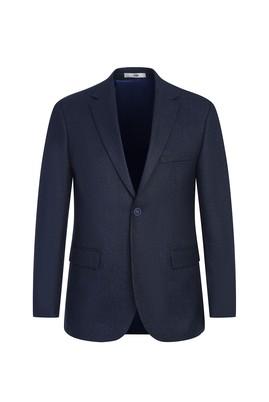 Erkek Giyim - AÇIK LACİVERT 46 Beden Slim Fit Ceket