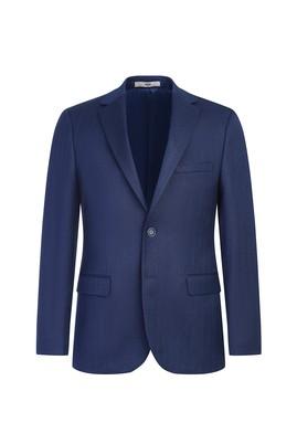 Erkek Giyim - AÇIK LACİVERT 48 Beden Klasik Balık Sırtı Ceket
