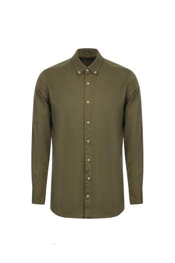 Erkek Giyim - Uzun Kol Kuşgözü Gömlek