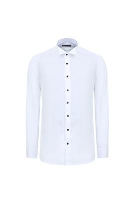 Erkek Giyim - BEYAZ L Beden Ata Yaka Klasik Gömlek