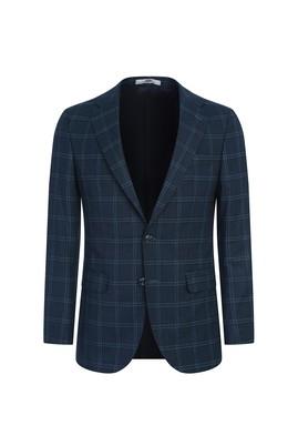 Erkek Giyim - KOYU YEŞİL 48 Beden Klasik Ekose Ceket