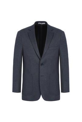 Erkek Giyim - LACİVERT 62 Beden Klasik Desenli Ceket