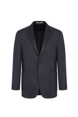 Erkek Giyim - ANTRASİT 64 Beden Regular Fit Desenli Ceket