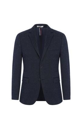 Erkek Giyim - Lacivert 46 Beden Slim Fit Desenli Ceket