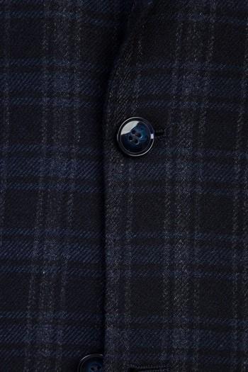 Erkek Giyim - Yünlü Klasik Ekose Ceket