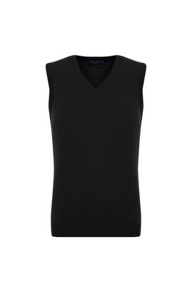 Erkek Giyim - SİYAH 3X Beden V Yaka Süveter