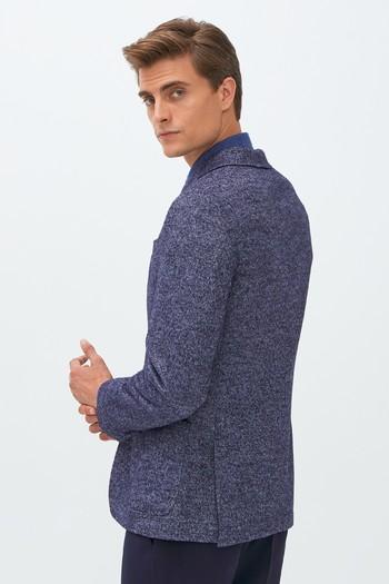 Erkek Giyim - Klasik Yünlü Desenli Ceket