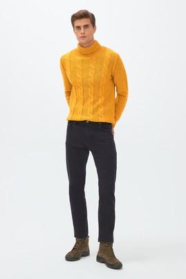 Erkek Giyim - AÇIK FÜME 50 Beden Slim Fit Denim Pantolon