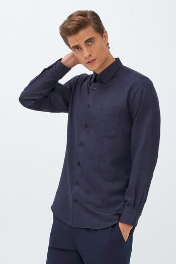 Erkek Giyim - Uzun Kol Desenli Flanel Gömlek