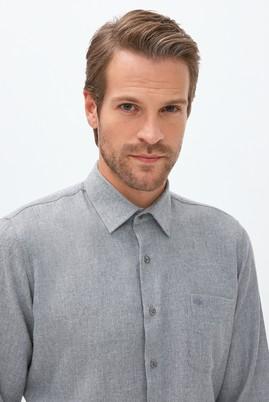 Erkek Giyim - AÇIK BEJ L Beden Uzun Kol Desenli Oduncu Gömlek