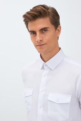Erkek Giyim - BEYAZ 3X Beden Uzun Kol Regular Fit Gömlek