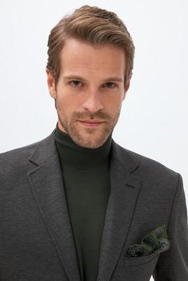 Erkek Giyim - MARENGO 50 Beden Slim Fit Kuşgözü Örme Ceket