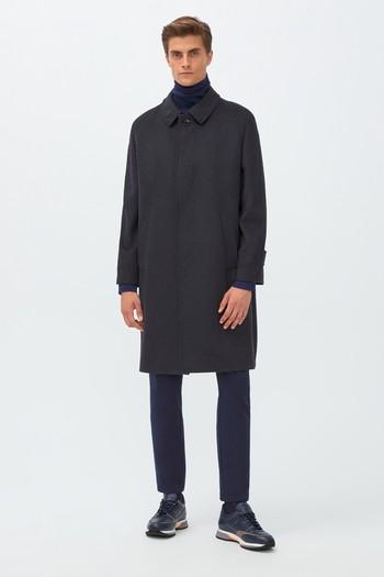 Erkek Giyim - Klasik Yünlü Palto
