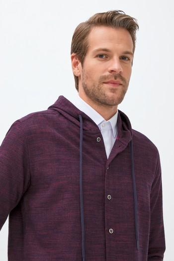 Erkek Giyim - Uzun Kol Kapüşonlu Spor Gömlek