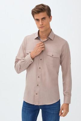 Erkek Giyim - ORTA BEJ M Beden Uzun Kol Klasik Gömlek