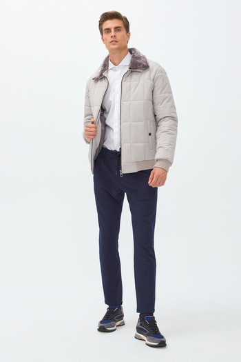 Erkek Giyim - Slim Fit Spor Mont