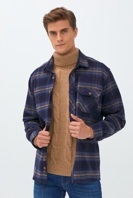 Erkek Giyim - MAVİ 3X Beden Uzun Kol Oduncu Gömlek