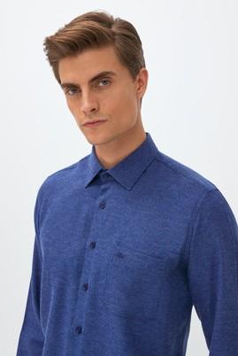 Erkek Giyim - SAKS MAVİ L Beden Uzun Kol Regular Fit Oduncu Gömlek