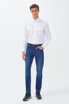 Erkek Giyim - MAVİ 46 Beden Slim Fit Denim Pantolon