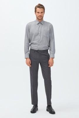 Erkek Giyim - Orta füme 50 Beden İtalyan Yünlü Flanel Pantolon