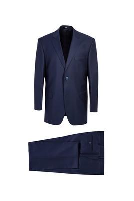 Erkek Giyim - KOYU MAVİ 48 Beden Klasik Kuşgözü Takım Elbise