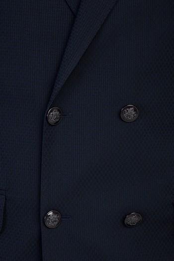 Erkek Giyim - Slim Fit Kruvaze Desenli Ceket