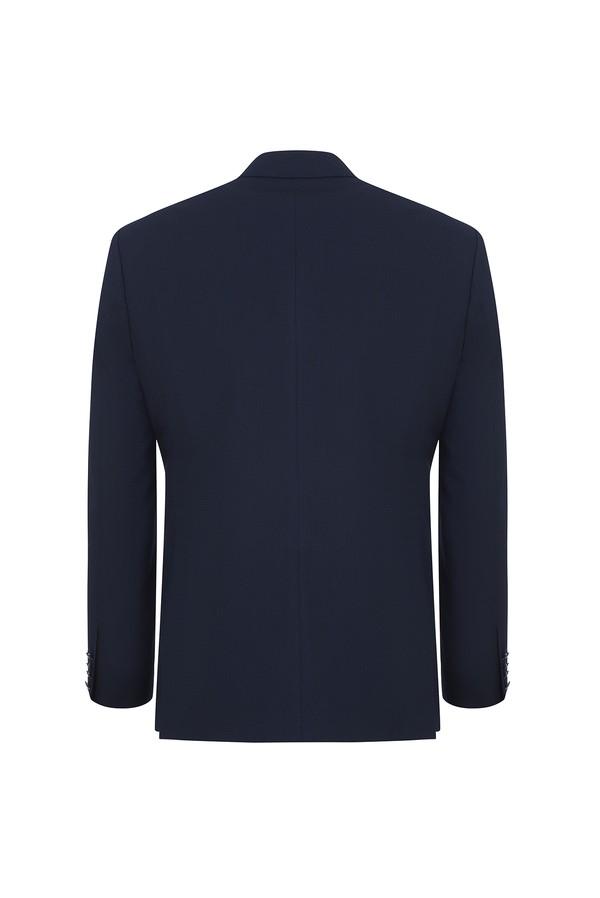 Slim Fit Kruvaze Desenli Ceket