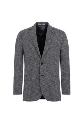 Erkek Giyim - SİYAH 60 Beden Klasik Kuşgözü Örme Ceket
