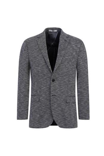 Erkek Giyim - Regular Fit Kuşgözü Örme Ceket