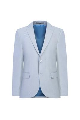 Erkek Giyim - ORTA LACİVERT 48 Beden Klasik Desenli Ceket